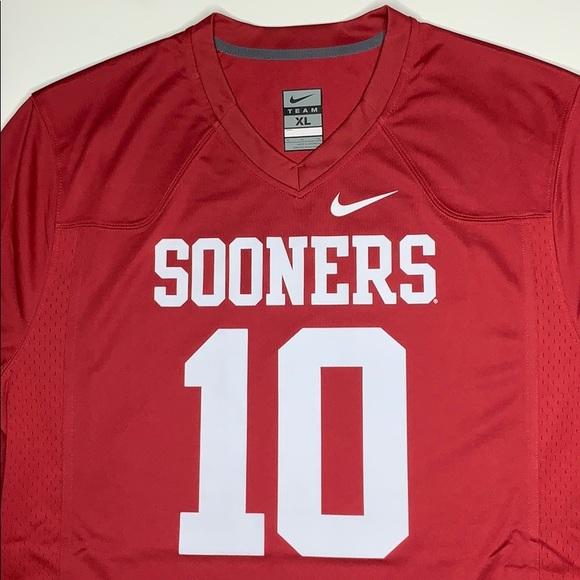 low priced a54ba 03ea5 Nike Oklahoma Sooners Football Jersey #10 Men's XL NWT